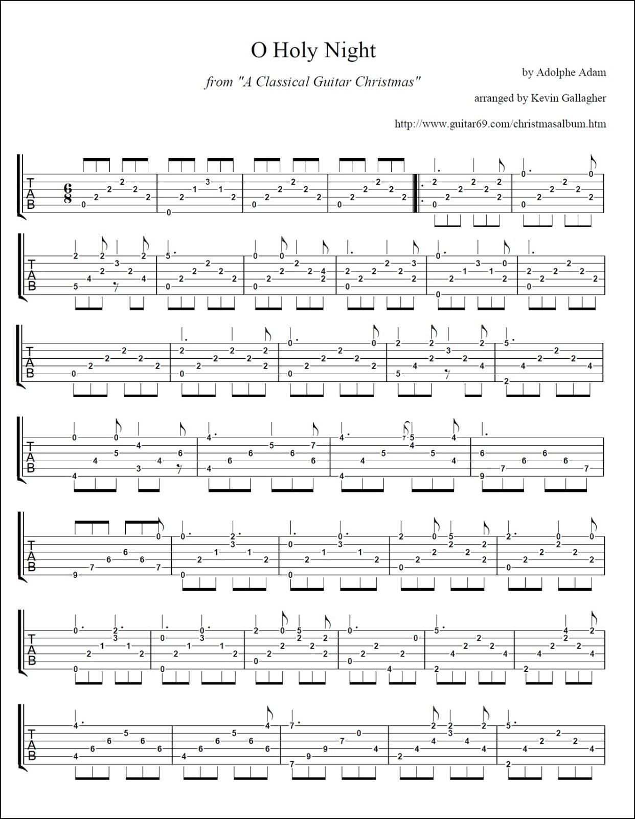 Guitar Chords O Holy Night