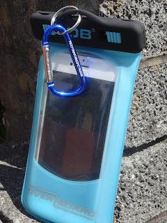 waterproof blue phone holder