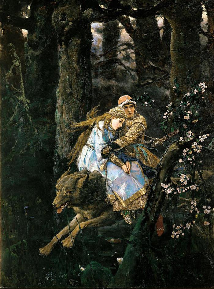 Иван-Царевич верхом на сером волке