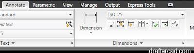 cara membuat Autocad Dimension