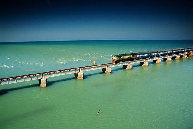 Image result for Pamban Bridge 1964 destroyed