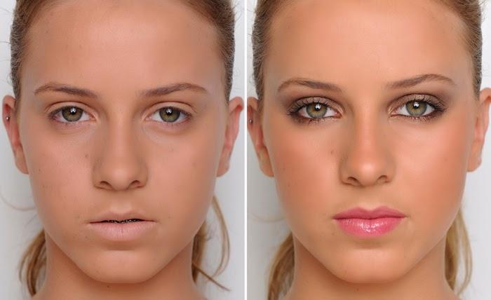 Antes e depois - maquilhagem natural