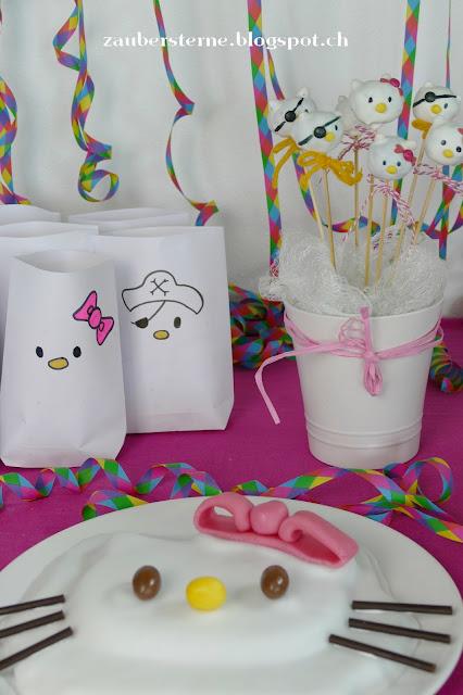 Hello Kitty Birthday, Hello Kitty Torte, Hello Kitty Cakepops, Hello Kitty Popcorntüten
