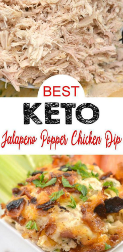 Keto Jalapeno Popper Chicken Dip