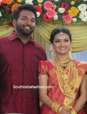 Aravind-Tollywood-actress Saranya-wedding-reception