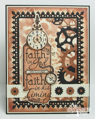 Our Daily Bread Designs Stamp: His Timing, Our Daily Bread Designs Custom Dies:Steampunk Gears, Lavish Layers, Pierced Rectangles