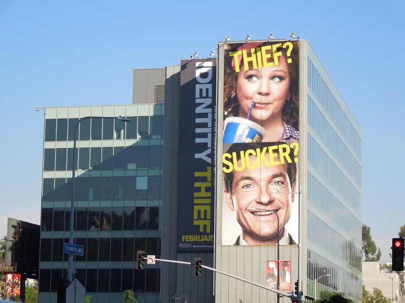 Giant Identity Thief movie billboard