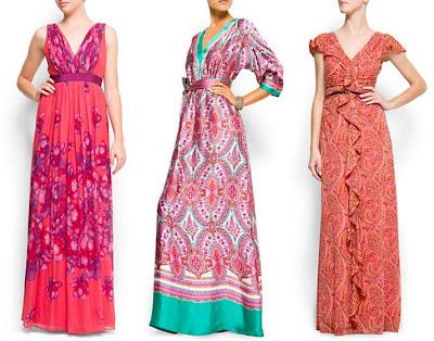 vestidos largos e informales de mango 2012