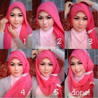Step-Step Memakai Hijab Pashmina Pesta
