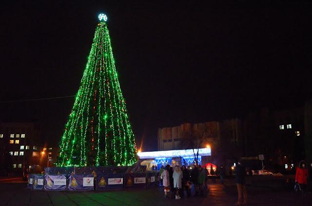 Рождественская ярмарка в Житомире на площади Королёва.