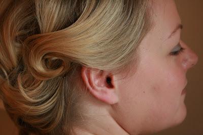 Achnagairn bride decided on soft pin curls for her wedding trial