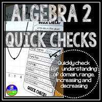 Algebra 2 quick check