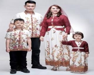 desain baju batik keluarga muslim