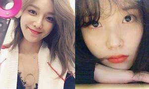 Sao Hàn 18/2: Soo Young lấp ló vòng 1 gợi cảm, IU khoe vẻ đẹp trong veo
