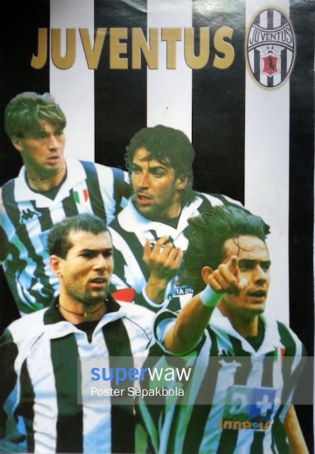 Poster Karton Pemain Bintang Juventus 1998