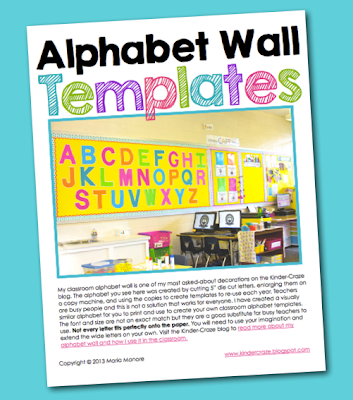 FREE alphabet wall templates
