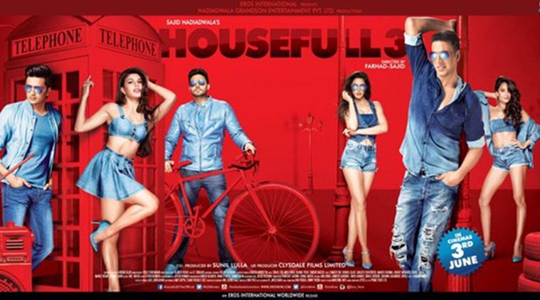 Complete cast and crew of Housefull 3  (2016) bollywood hindi movie wiki, poster, Trailer, music list - Akshay Kumar, Abhishek Bachchan and Riteish Deshmukh Movie release date 3 June 2016, 2016