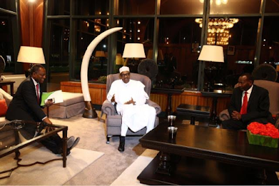 Photos: Pres. Buhari arrives Kenya