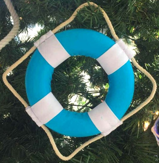 Blue Life Ring Ornament