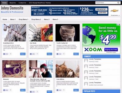 Johny Demosite Responsive Blogger Template Free Download