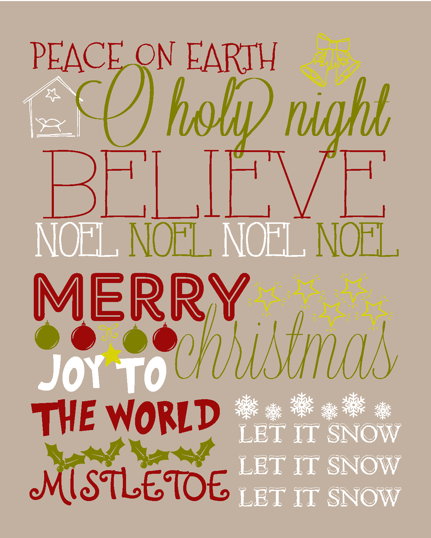 Christmas Subway Art.Recipes From Stephanie Christmas Subway Art