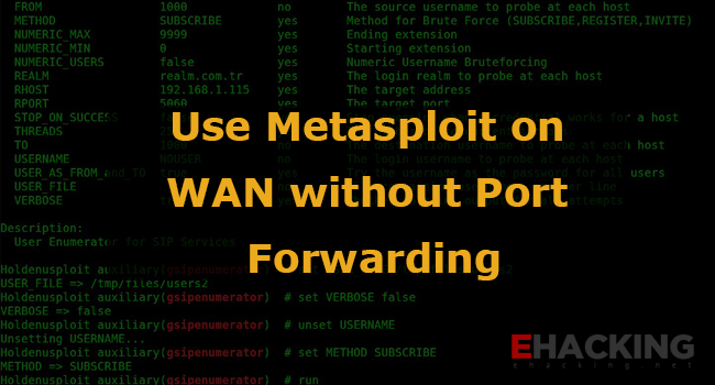 Use Metasploit on WAN without Port Forwarding - The World of IT