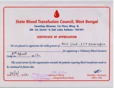 Blood donation day finally our second consecutive year certificate thanks to all hope to carry on with the responsibility yelopaper Choice Image
