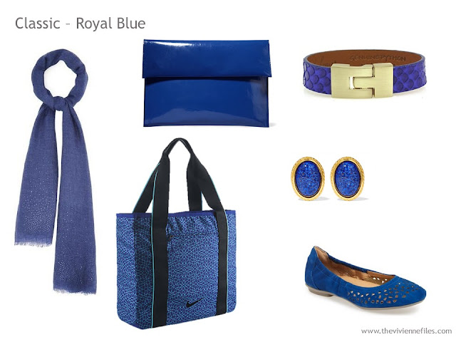 Adding Accessories to a Capsule Wardrobe in 13 color families -  royal blue