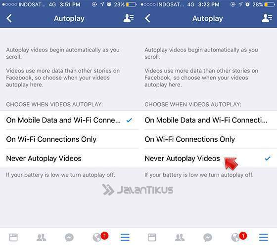 how to stop autoplay on facebook iphone