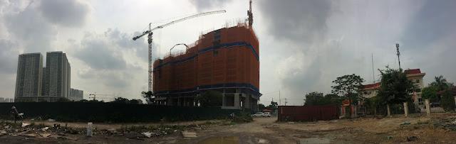 Toàn cảnh dự án Eco Dream và hạ tầng lân cận đang được hoàn thiện.