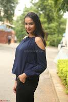 Poojita Super Cute Smile in Blue Top black Trousers at Darsakudu press meet ~ Celebrities Galleries 059.JPG