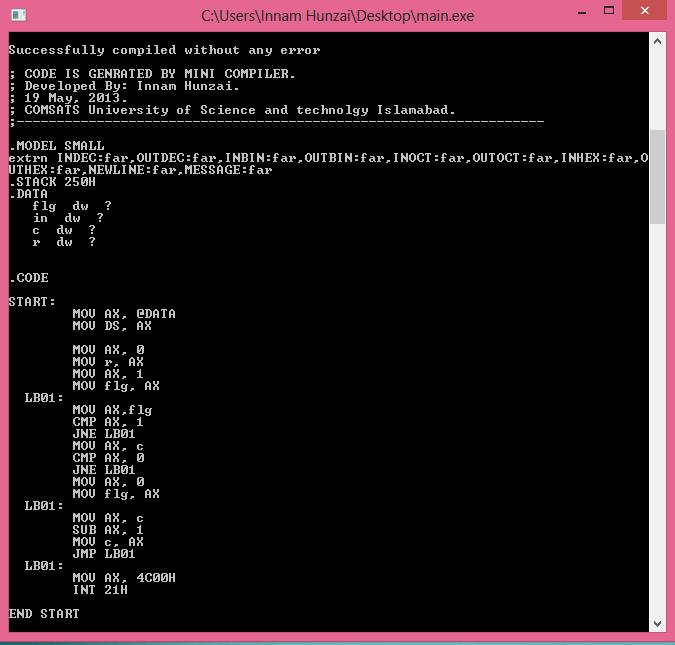 Error Log: Let Us Solve!: Mini Compiler For C Language [Compiler