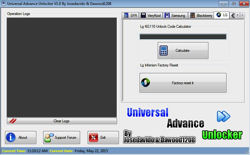 Universal Advance Unlocker V1.0 by Josedavido & Dawood1208