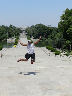 Jumping in Bucharest, Romania