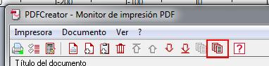 uniendo los archivos a comvertir en pdf