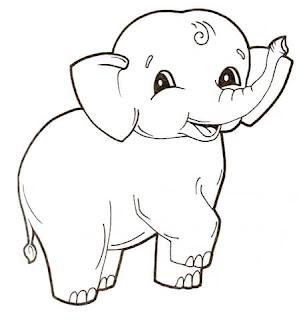 Best Collection Of Images Cute Baby Elephant Coloring Pages