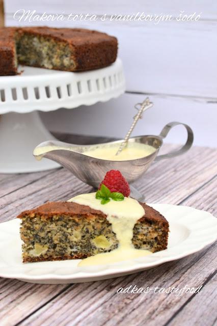 Maková torta s vanilkovým šodó