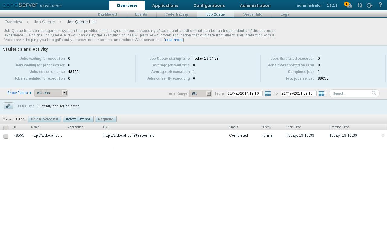 Linux: Zend Framework 2: JobQueue Module