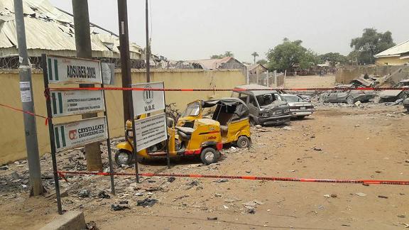bomb explosion yola police station