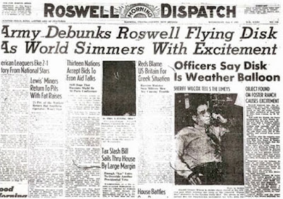 Army Debunks Roswell Flying Disk - Roswell Morning Dispatch 7-9-1947