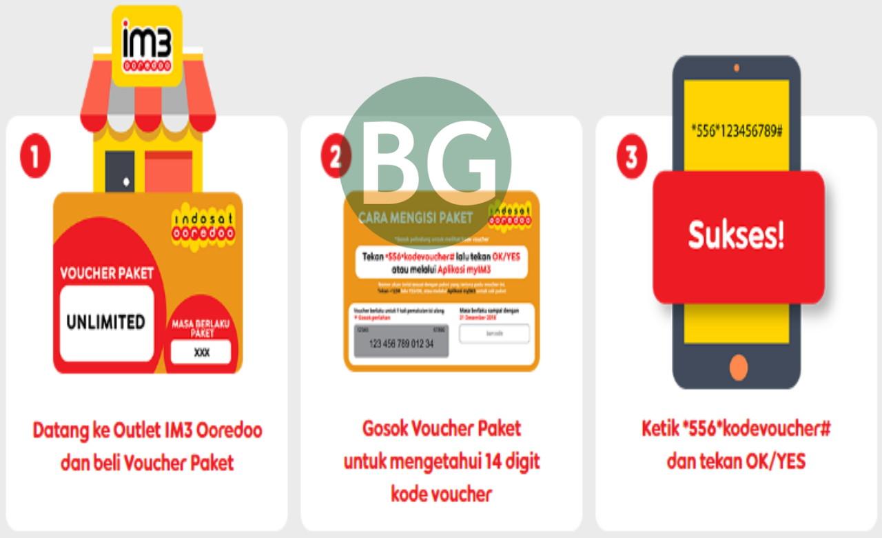 Cara Memasukkan Kode Voucher Indosat Terbaru