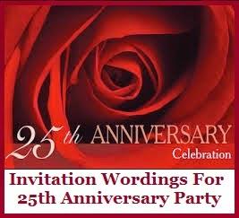 Sample Invitation Wordings Anniversary