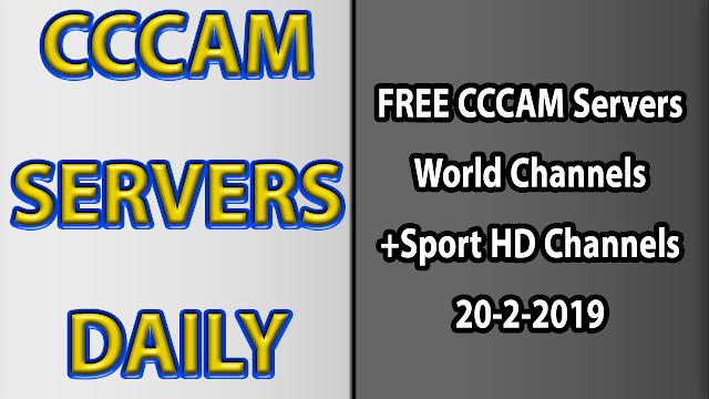 FREE CCCAM Servers World Channels +Sport HD Channels 20-2-2019