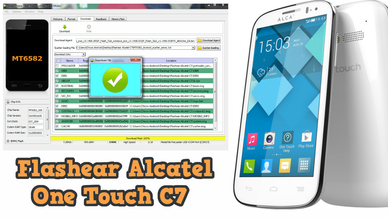 🔥 Unbrick ALCATEL ONE TOUCH POP C7 7041D,7041x