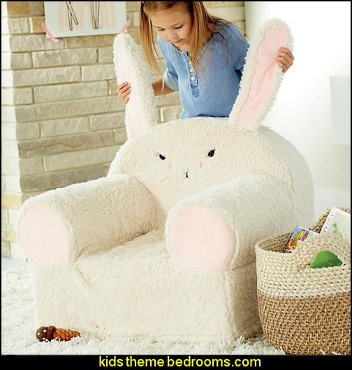Bunny Furry Animal Nod Chair
