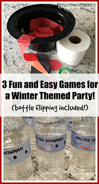 3 Fun and Easy Games for a Winter Themed Party - Bottle Flipping Included!
