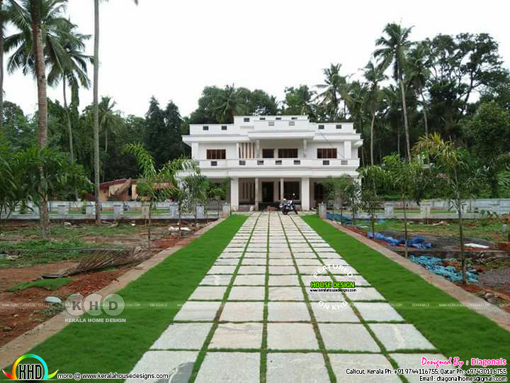 Landscaping designs by diagonals kerala home design and for Kerala style garden designs