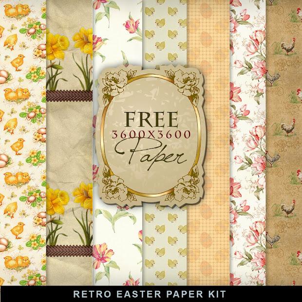 Freebies Paper Kit - Vintage Easter. Hill