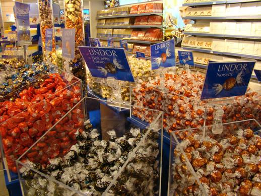 Comprar chocolates em Zurique
