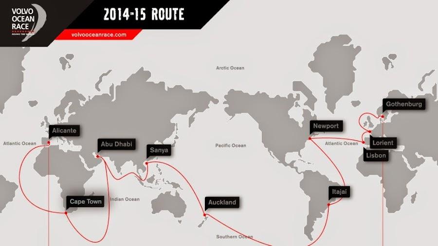 Las etapas para esta Volvo Ocean Race 2014 2015